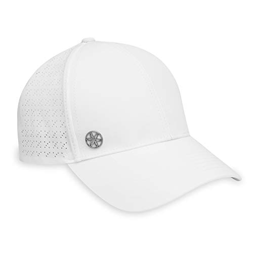 Gaiam Women's Cruiser Nova Hat - Breathable Ball Cap, Pre-Shaped Bill, Adjustable Size (Running, Outdoors, Baseball, Sun, Hiking, Yoga, Golf, Tennis, Sports & Fitness) - White