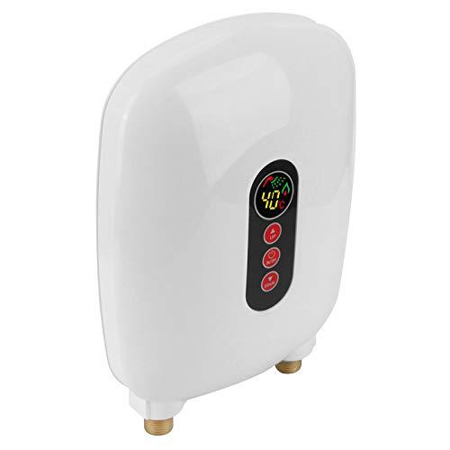 Omabeta Durchlauferhitzer Durchlauferhitzer Durchlauferhitzer Stromsparender Wasserheizer Sichere Heizung mit großem LCD-Bildschirm Wasserheizungsbedarf Küchengerät (weiß)