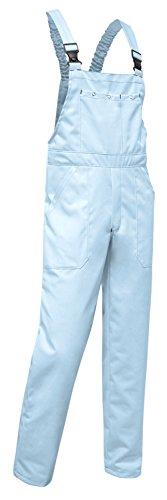 Kermen - Arbeits-Latzhose Hamburg Kombi-Hose Berufskleidung Größe: 50, Farbe : Hellblau 245gm