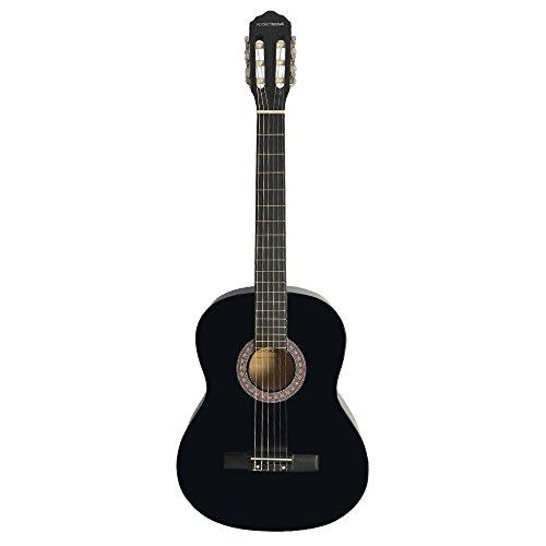 Rocket Music CG44BK klassieke Spaans elektrische gitaar volledige grootte zwart