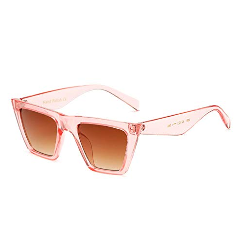 Astemdhj Gafas de Sol Sunglasses Gafas De Sol Cuadradas De Moda con Diseño De Ojo De Gato para Mujer, Gafas De Sol De Leopardo con Lentes Transparentes, Estilo Veraniego, Tonos NeAnti-UV