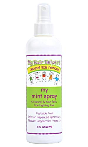 Treatment-Spray Mint Spray for Lice Prevention Repels Louse Naturally Formulated Non-Toxic Essential Oil Treatment 8 fl Ounces Treats 1-2 People