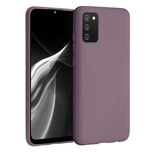 kwmobile Cover Compatibile con Samsung Galaxy A02s - Custodia in Silicone TPU - Backcover Protezione Posteriore- UVA