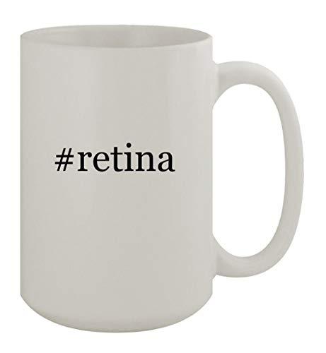 #retina - 15oz Ceramic White Coffee Mug, White