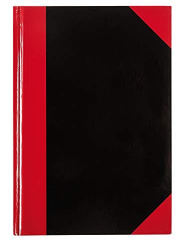 Idena 10147 - Kladde DIN A5, FSC-Mix, 96 Blatt, 70 g/m², kariert, Cover rot-schwarz, 1 Stück