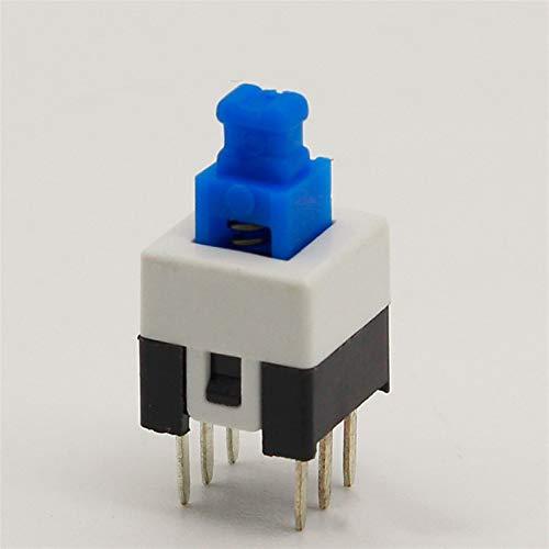 Kfdzsw Micro Interruptor 30pcs / Lot Square 7x7x12mm 6 Pin DPDT Mini pulsador Interruptor de autoloqueamiento G64 Interruptor multímetro