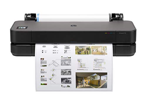 HP DesignJet T230 Large Format Compact Wireless Plotter Printer - 24', with Modern Office Design (5HB07A)
