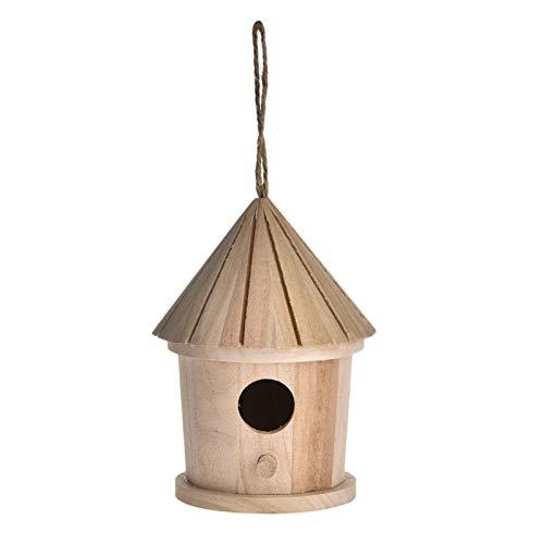 Rubeyul Nistkasten Basic, Vögel Vogelnistkasten naturbelassen, Vogelhaus Nistkasten Für Meisen, Stabiles Holz Vogelhäuschen Zum Aufhängen Für Garten Und Balkon