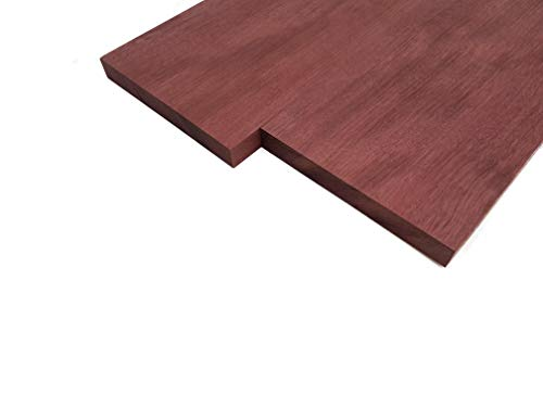 Purpleheart Lumber Board - 3/4' x 6' (2 Pcs) (3/4' x 6' x 18')