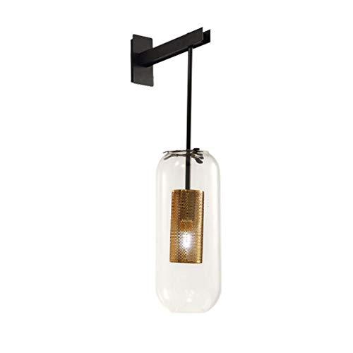Aplique de pared Estilo Industrial pared retro retro de la lámpara de la sala del hierro creativo lámpara de pared de malla americana Escalera dormitorio de la lámpara pared de la cabecera Decorativa