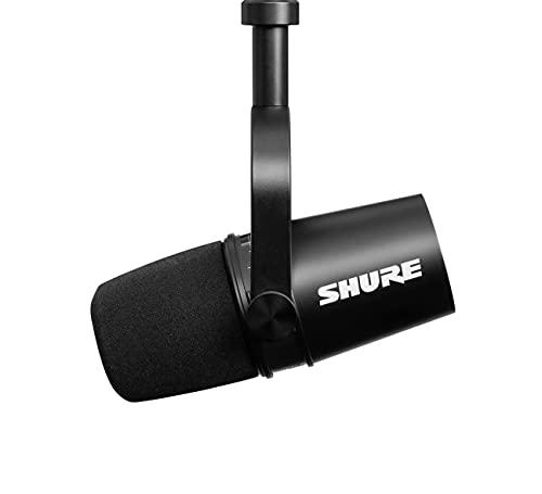 Shure MV7 XLR/USB Dynamic Podcasting Microphone (Black)