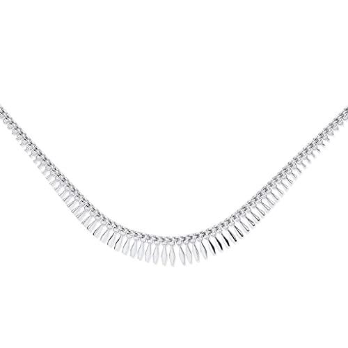 Genuine Sterling Silver Cleopatra Design Necklace Brand New