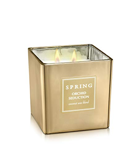 Spring Scented Luxury Coconut Wax Home Decor Candle. Makes a Great Smelling Gift Spa Quality Natural Candles (14.10 oz, Secret Garden)
