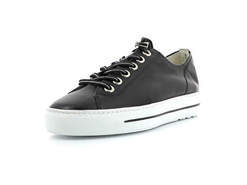 Paul Green Damen Sneaker 4938, Frauen Low-Top Sneaker, weibliche Lady Ladies feminin elegant Women's Women Woman Freizeit leger,Black,38 EU / 5 UK