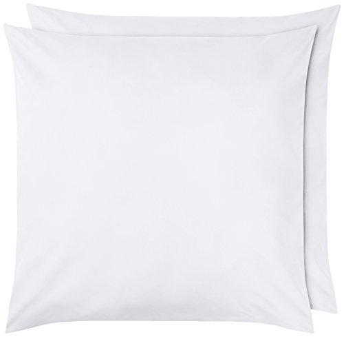 AmazonBasics - Kissenbezug, Mikrofaser Weiß - 2er-Set