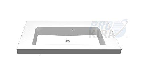 PELIPAL Balto Mineralmarmor-Waschtisch/BL-MMWT 57-900-w/Weiß / 91,2x0,76x50,8cm