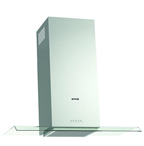 Gorenje WHGC 933 E16X Kamin-Dunstabzugshaube/55,1 kWh/jahr/90 cm/SmartCurve/LED Beleuchtung/SuperSilent/Anti-Fingerprint-Beschichtung/edelstahl