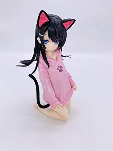 Skwenp OCHI LIPKA Neko Cat Ear Mädchen Ripuka Anime Ochi Lipka Ripuka Nette Kawaii Katze-Ohr-Mädchen PVC Figure Sammler Modell Spielzeug