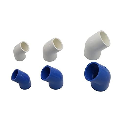 10st 20/25 / 32mm 45 graders armbågsanslutningar Trädgård Bevattningsröranslutningsadapter Snabbkoppling Fog VVS Montering av vattningstillbehör (Color : Blue Id32mm)