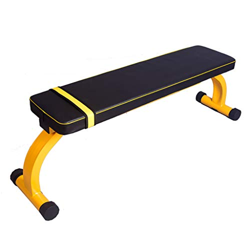 LXS £ 660 Hantelbank, zusammenklappbare Flache Hantelbank Utility Workout Bench Heavy Duty Lifting und Ab Fitness Bench für Home Gym Übung