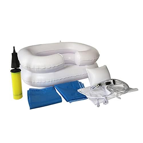 GYL Aufblasbares Bett-Haarwaschbecken, Duschsystem Am Bett für Behinderte und Ältere Patienten Bett Easy, Schwangerschaft, Bettlägerigkeit Oder Postoperative Patienten,(6er Set)