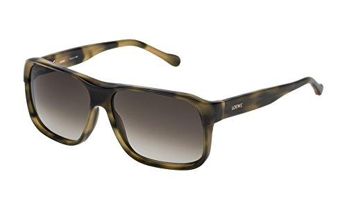 Loewe SLW964M58092I Gafas de sol, Shiny Green Havana, 58 para Mujer