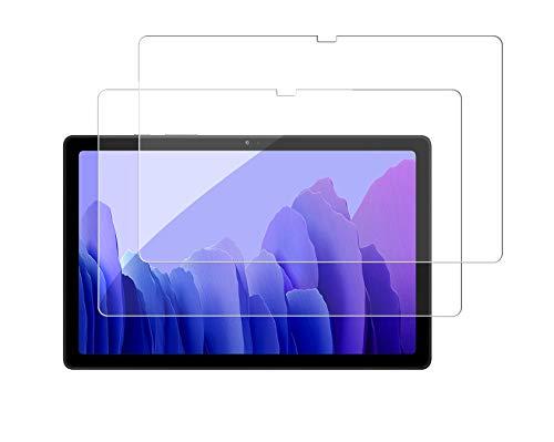 WEOFUN [2 unidades] Cristal blindado para Samsung Galaxy Tab A7 (10.4 Pulgadas) SM-T505/T500/T507, dureza 9H, Fácil Instalación,Anti-Scratch,Bordes redondeados 2.5D Protector Pantalla