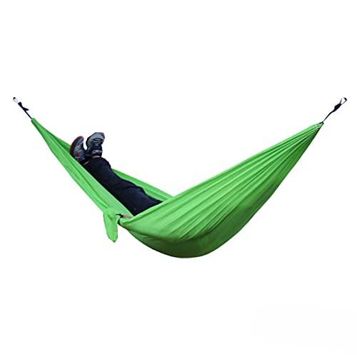 RWEAONT Hamaca Doble al Aire Libre Paño para paracaídas portátil de 2 Personas Redere jardín Silla Colgante de Silla de Viaje para Dormir (Color : Red Wine)