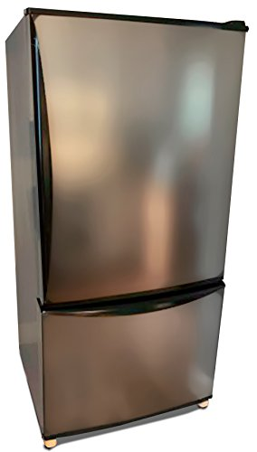 EZ FAUX DECOR Stainless Steel Paint? NO! Appliance Door Panel Peel and Stick Stainless Steel Self Adhesive Nickel Film Overlay 36' X 144