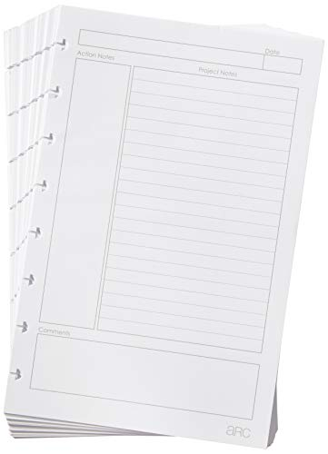 Staples Arc Notebook Project Planner Filler Paper Junior Sized White 50 Sheets
