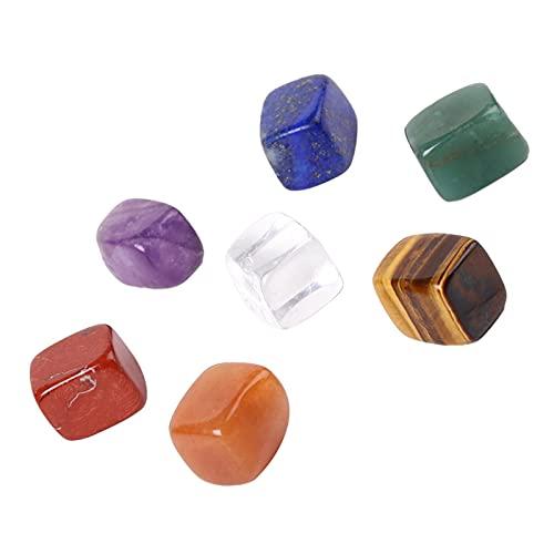 YSJSPOL Piedras y Cristales 7 Colores/Set Natural Yoga Energía Energía Piedra Irregular Curación Cristales Piedra Pulida Individual Habitación Espiritual Decoración (Color : 1 Set 7 Stones, Size : L)