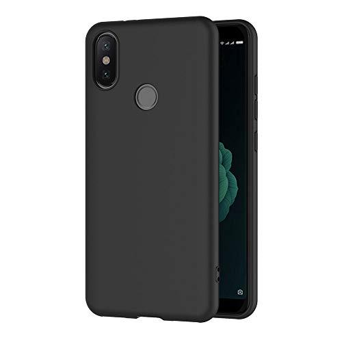 AICEK Xiaomi MI A2 Hülle, Schwarz Silikon Schutzhülle für Xiaomi MI A2 Hülle TPU Bumper Xiaomi MI A2 Handyhülle (5,99 Zoll)