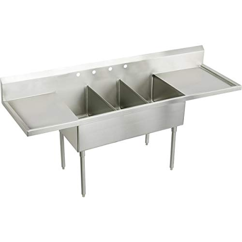 Review Of Elkay SS8372LROF4 Commercial Sink Lustrous Satin Finish