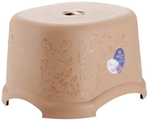 YLCJ woonkamer-schommel, rechthoekige verbrekende lage sneeuw-volwassen kinderstoel kleine zitplasticweerstand voor vallende kleine bank (kleur: oranje, maat: 30 * 26,5 * 19 cm) 34 * 30 * 22CM kaki