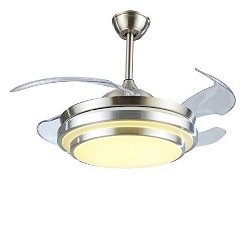Ventilador de techo de 106 cm con lámpara individual y 4 aspas, 36 W, dos temperaturas de color