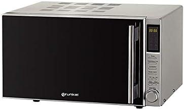 Grunkel - MWG-30DGIXT - Microondas digital con grill de 30l de capacidad, 6 niveles de potencia y 2 de combinado. 8 opciones multi-cocinado y temporizador hasta 95 min - 900W - Acero inoxidable