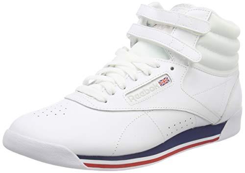 Reebok Damen Freestyle Hi Fitnessschuhe, Mehrfarbig (Retro/White/Bunker Blue/Primal Red/Skull 000), 42 EU