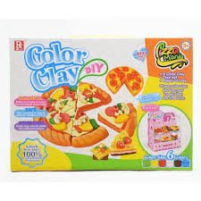 Play Baby Toys DIY Super Soft Clay Collection, Fast Food Series - Pizza Mania Set - Create A Restaurant While Having Fun