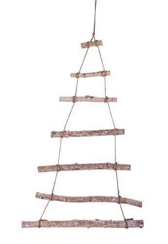 Rayher Escalera de madera decorativa para colgar, árbol de