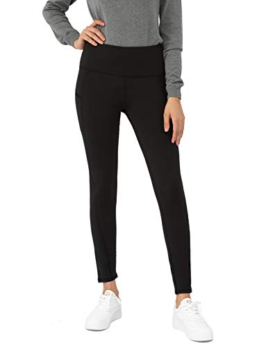 Bamans Women's Fleece Lined Leggings Tummy Control Thick Thermal Tights Winter Cycling Running Leggings