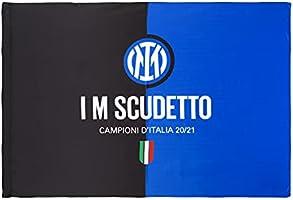 Inter Bandiera I M Scudetto 20-21, Campioni d'Italia, 100x140cm, Unisex Adulto, Nero/Blu, 100x140