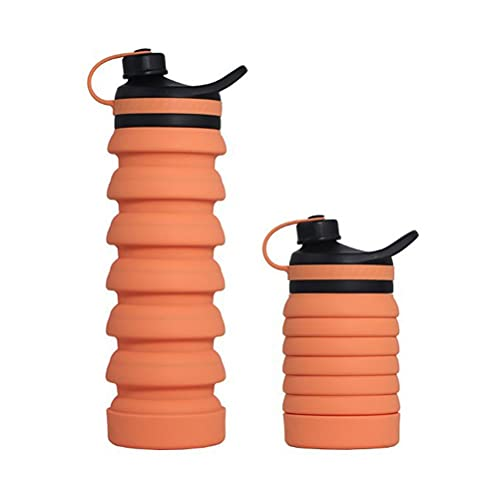 BTSEURY Collapsible Water Bottle Running Water Bottle With Rope Portable Drinking Water Bottle Sports Water Bottles Travel Water Bottle Women For Man Sports Travel Fitness Outdoor