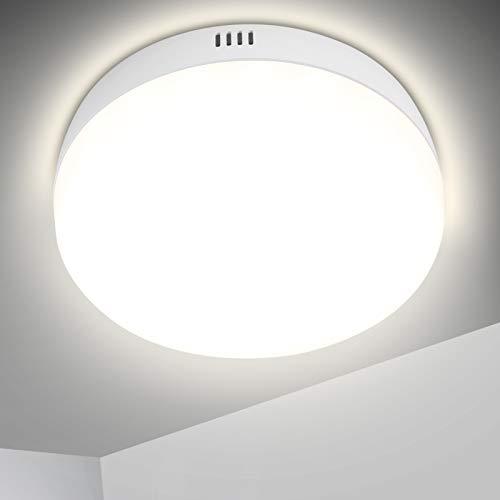 Plafoniera LED Soffitto Luce Bianca, OPPEARL Lampada da Soffitto, 12W 1200lm, 4000K Plafoniera da Cucina per Ufficio, Balcone, Corridoio, Armadio, Cantina Ø13.5CM