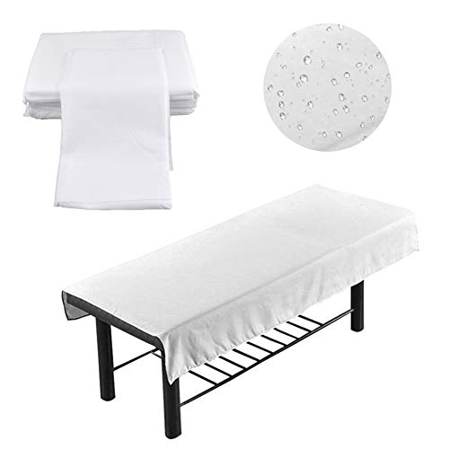 zapture 100 Pcs Disposable Spa Bed Sheets, Disposable Massage Table Sheet, Massage Table Cover, Waterproof Non-Woven Fabric Bed Cover for Hospital, Nursing Home Or Beauty Salon- 180 X 80 cm