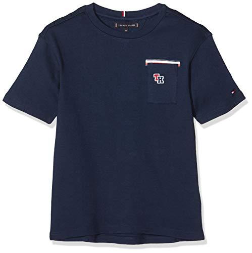 Tommy Hilfiger Jungen Boxy FIT Pocket Tee T-Shirt, Blau (Blue Cbk), 140 (Herstellergröße:10)