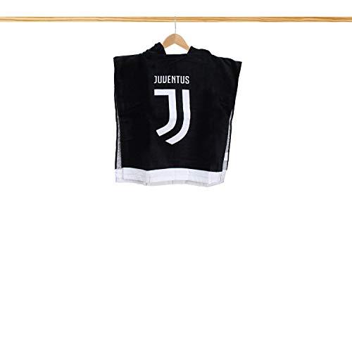Bademantel für Kinder mit Kapuze Poncho Frottee Baumwolle FC Juventus offiziell