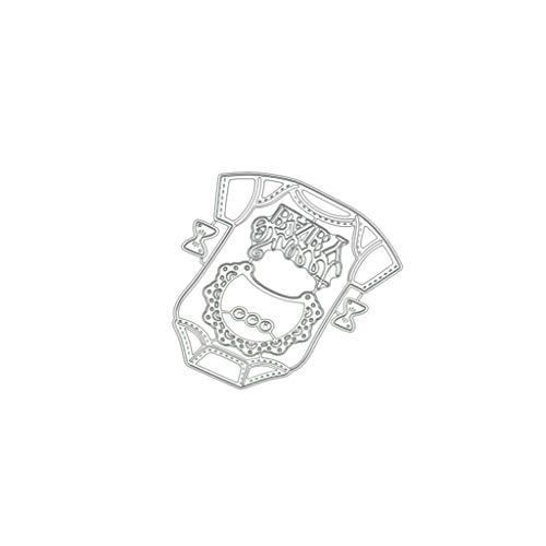 siwetg Ropa de bebé DIY Metal Troqueles Plantilla Scrapbooking Album Papel Tarjeta Artesanía