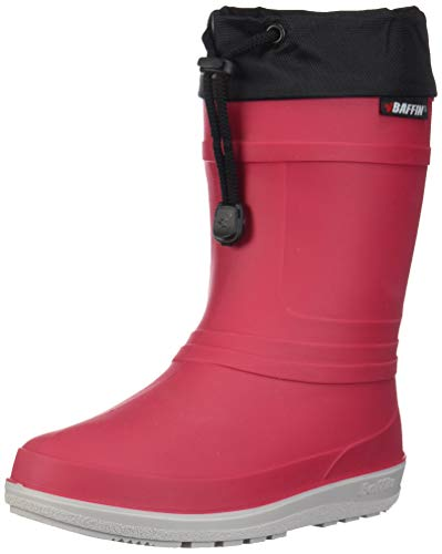 Baffin Unisex-Baby ICE Castle Rain Boot, Rac - Red, 10 Youth US Toddler