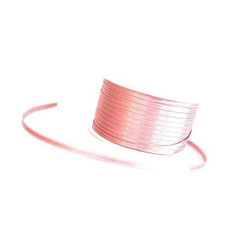 Artisanat Ruban satin Ruban Tissu Double Set Faced CLIPS Paquet Emballage cadeau Noeud dans les cheveux Accessoires-Rose