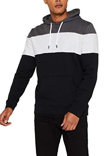 edc by ESPRIT Herren 089Cc2J002 Sweatshirt, Schwarz (Black 001), X-Large (Herstellergröße: XL)